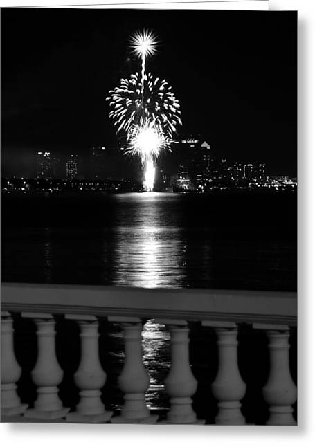 Pirate Ships Greeting Cards - Fireworks fountain Greeting Card by David Lee Thompson
