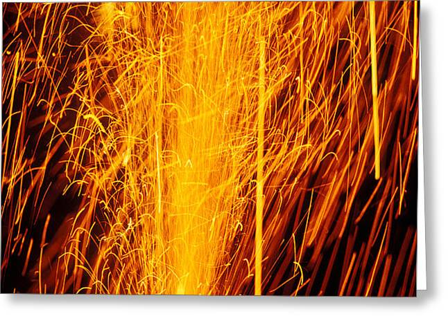 Fireworks Fountain Greeting Card by Garry Gay