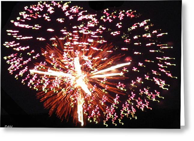 Party Invite Photographs Greeting Cards - Fireworks Fun Greeting Card by Debra     Vatalaro