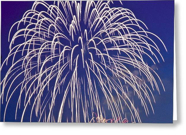 Pyrotechnics Greeting Cards - Fireworks Greeting Card by Heiko Koehrer-Wagner