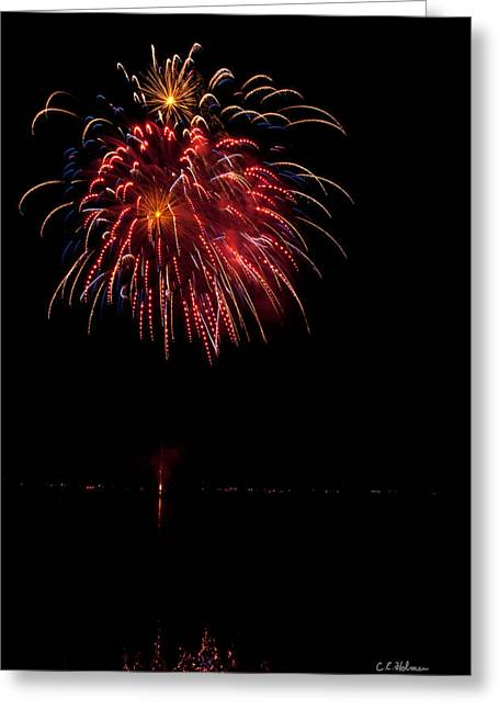 4th July Greeting Cards - Fireworks II Greeting Card by Christopher Holmes