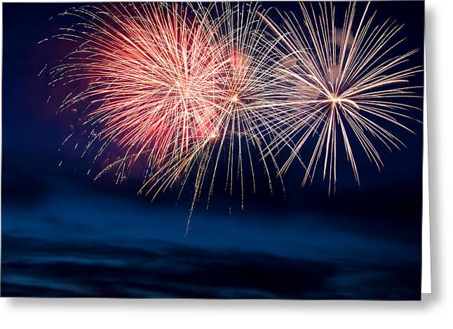 Pyrotechnics Greeting Cards - Fireworks Greeting Card by Ivan SABO