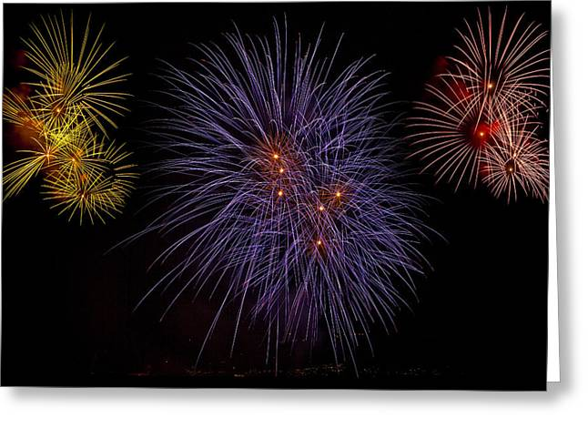 New Year Greeting Cards - Fireworks Greeting Card by Joana Kruse