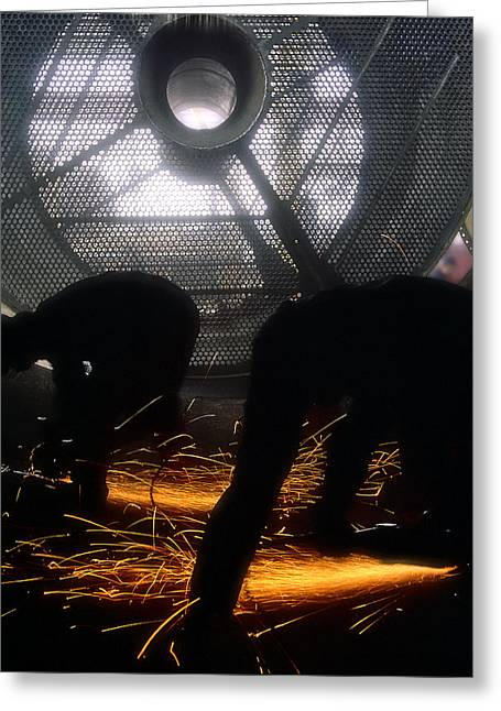 Metal Worker Greeting Cards - Fireworks Greeting Card by Juan Carlos Ferro Duque