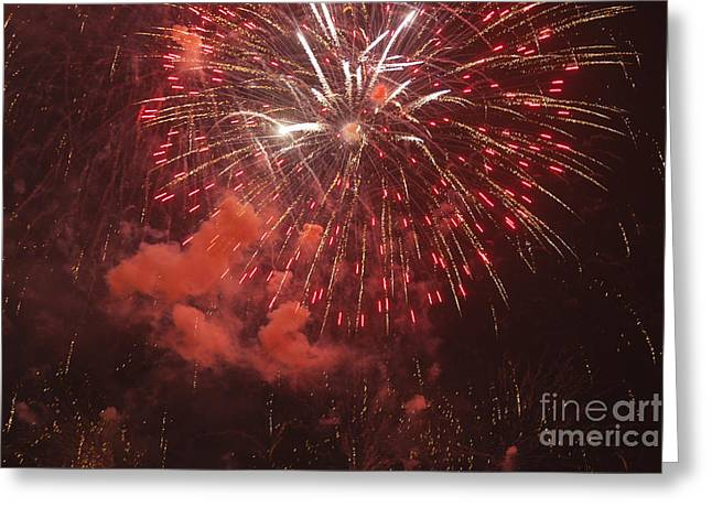 4th July Photographs Greeting Cards - Fireworks Greeting Card by Juan  Silva
