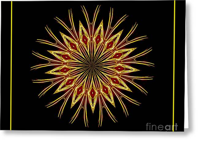Bottle Rockets Greeting Cards - Fireworks Kaleidoscope 1 Greeting Card by Rose Santuci-Sofranko