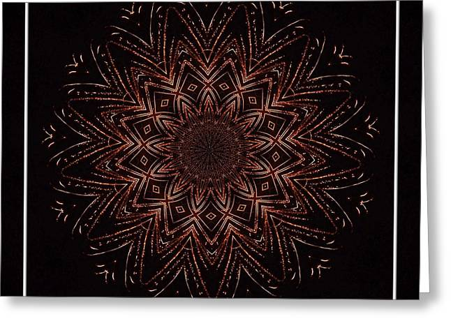Bottle Rockets Greeting Cards - Fireworks Kaleidoscope 3 Greeting Card by Rose Santuci-Sofranko