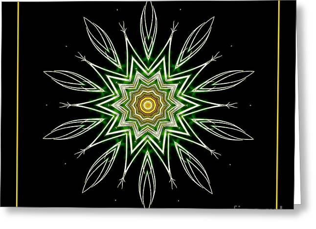 Bottle Rockets Greeting Cards - Fireworks Kaleidoscope 6 Greeting Card by Rose Santuci-Sofranko