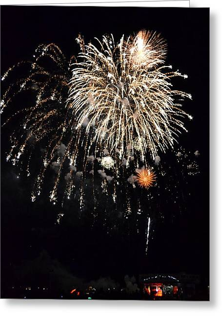 Flash Greeting Cards - Fireworks Greeting Card by Michelle Calkins