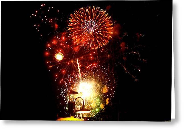 Nathan Grisham Greeting Cards - Fireworks Greeting Card by Nathan Grisham