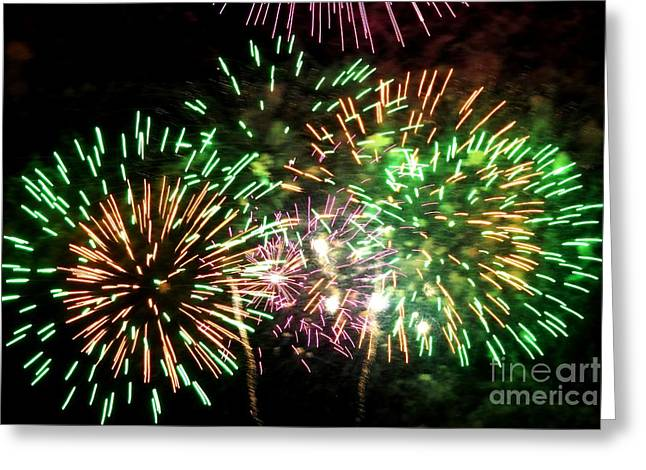 Pyrotechnics Greeting Cards - Fireworks Number 1 Greeting Card by Meandering Photography