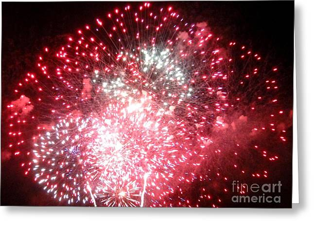 Pyrotechnics Greeting Cards - Fireworks Number 7 Greeting Card by Meandering Photography