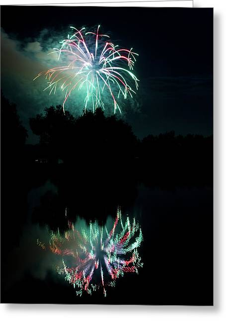 Fireworks On Golden Ponds. Greeting Card by James BO  Insogna