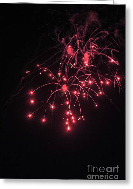 Fireworks Oooh 2 Greeting Card by Michael Flood