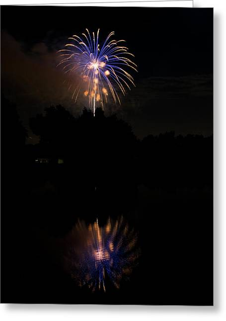 4th July Greeting Cards - Fireworks Reflection Greeting Card by James BO  Insogna