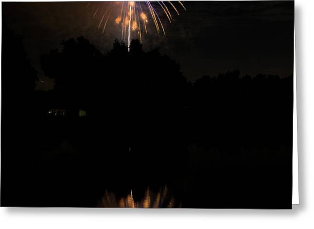 Fireworks Reflection Greeting Card by James BO  Insogna