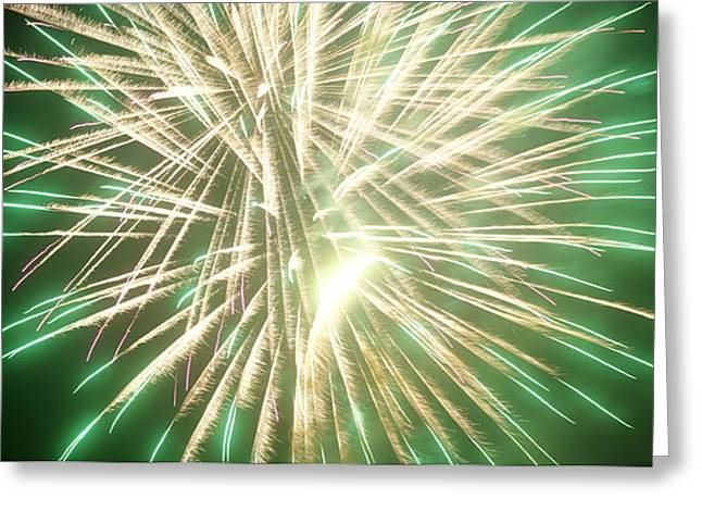 4th Pyrography Greeting Cards - Fireworks Greeting Card by Ronald Britton