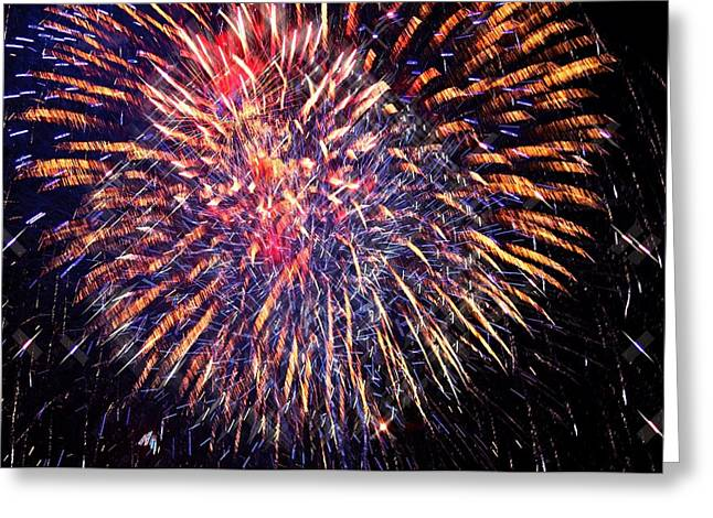 Susan Leggett Greeting Cards - Fireworks Greeting Card by Susan Leggett