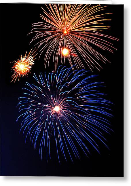Pyrotechnics Greeting Cards - Fireworks Wixom 1 Greeting Card by Michael Peychich