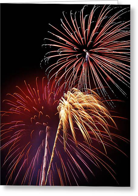 July 4th Greeting Cards - Fireworks Wixom 3 Greeting Card by Michael Peychich