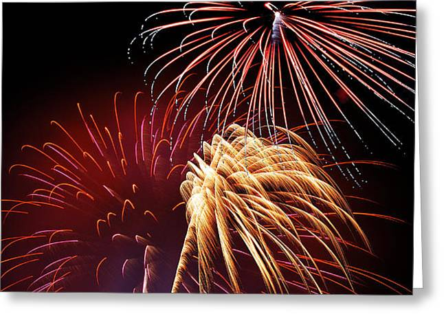 Fireworks Wixom 3 Greeting Card by Michael Peychich