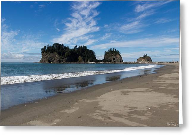 West Fork Greeting Cards - First Beach Greeting Card by Heidi Smith
