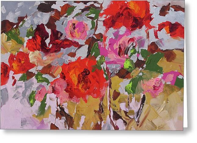 Award Winning Art Greeting Cards - First Blush Greeting Card by Linda Monfort
