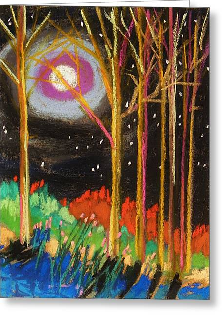 Unique View Pastels Greeting Cards - First Cold Night Greeting Card by John  Williams