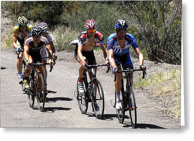 Tour Of The Gila Greeting Cards - First Day Pro Leaders Greeting Card by Feva  Fotos