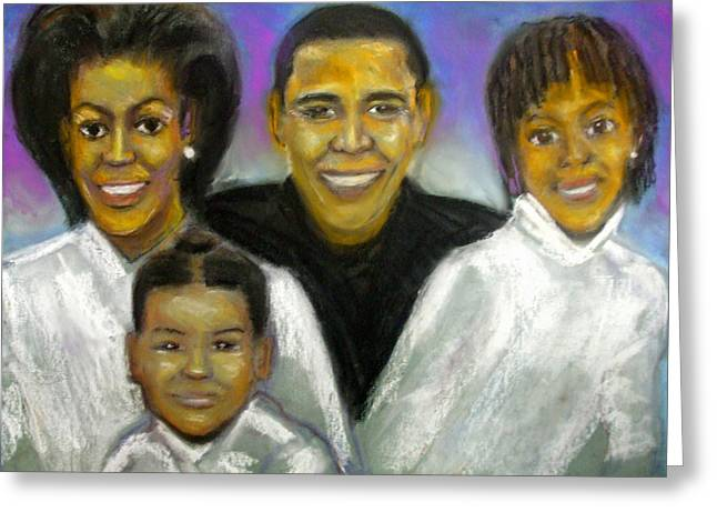 President Pastels Greeting Cards - First Family Greeting Card by Jan Gilmore