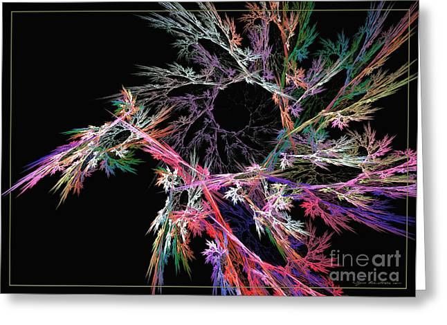 Interior Still Life Mixed Media Greeting Cards - First flower - abstract art Greeting Card by Abstract art prints by Sipo