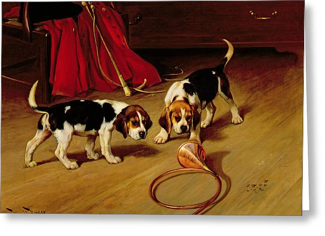 First Introduction Greeting Card by Wright Barker