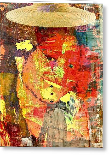 First Lady Mixed Media Greeting Cards - First Lady - The Republic in mind Greeting Card by Fania Simon
