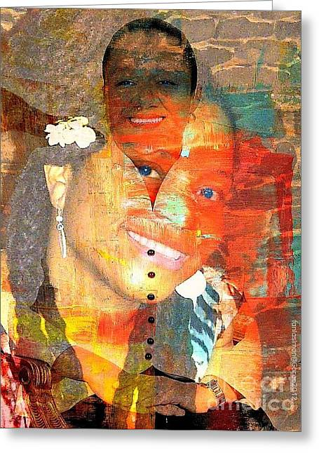 First Lady Mixed Media Greeting Cards - First Lady Working Lady Greeting Card by Fania Simon