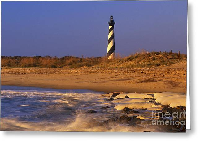 Sand Bags Greeting Cards - First Light at Cape Hatteras - FS000257 Greeting Card by Daniel Dempster