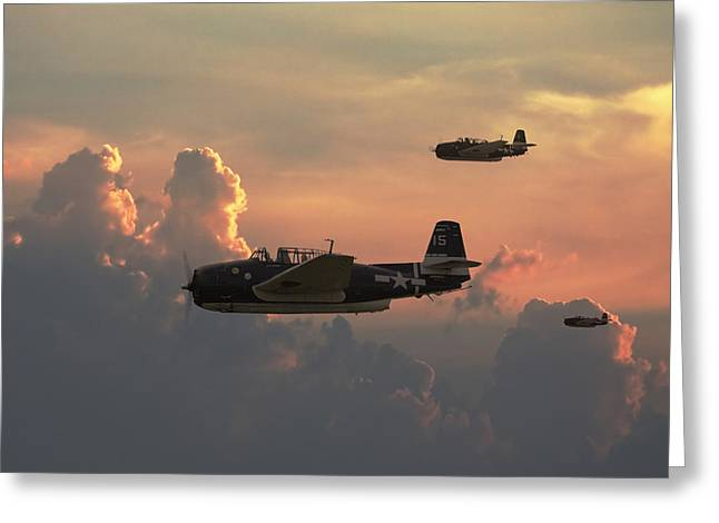 Military Aircraft Greeting Cards - First Light Strike Greeting Card by Pat Speirs
