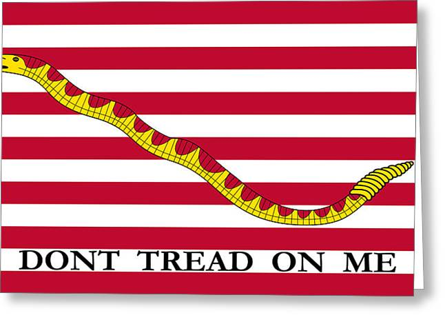Firsts Mixed Media Greeting Cards - First Navy Jack Greeting Card by War Is Hell Store