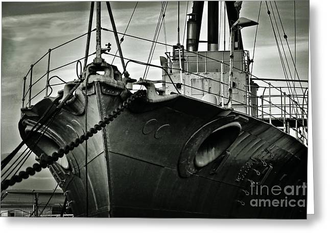 Wwi Greeting Cards - First of her Class. Last of the Fleet Greeting Card by Chris Cardwell