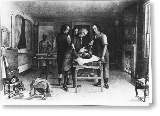 E Black Greeting Cards - First Ovariotomy, 1809 Greeting Card by Science Source