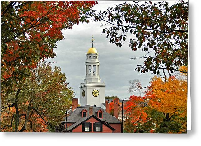 Concord Massachusetts Photographs Greeting Cards - First Parish Church Greeting Card by Joann Vitali