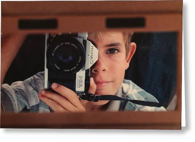 Self-portrait Photographs Greeting Cards - First self-portrait Greeting Card by David Paul Murray