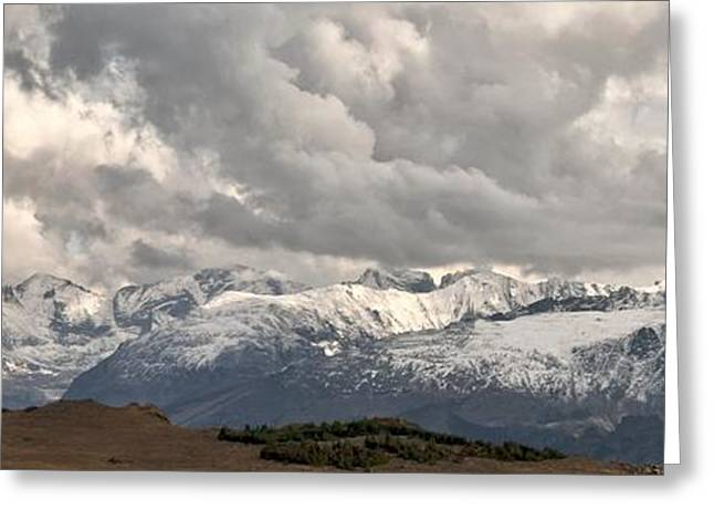 First Snow 2012 Rocky Mountains Greeting Card by Larry Darnell