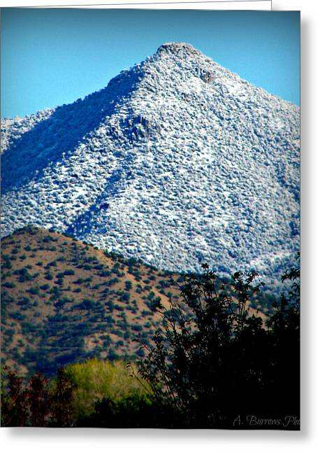 Rincon Greeting Cards - First Snowfall on Point 8300 Greeting Card by Aaron Burrows
