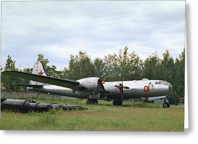 Tupolev Greeting Cards - First Soviet Nuclear Bomber Greeting Card by Ria Novosti