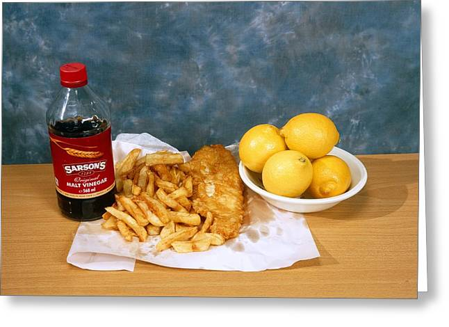 Fish And Chips Greeting Card by Andrew Lambert Photography