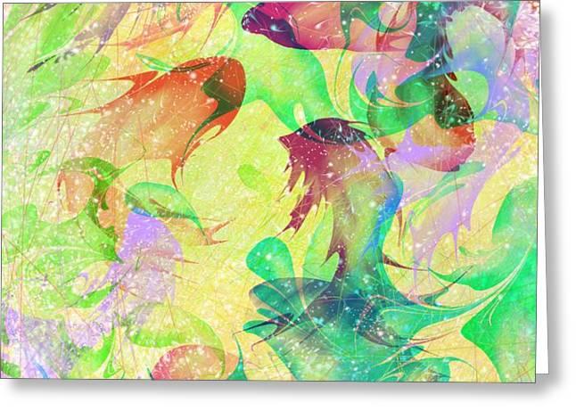 Fish Dreams Greeting Card by Rachel Christine Nowicki