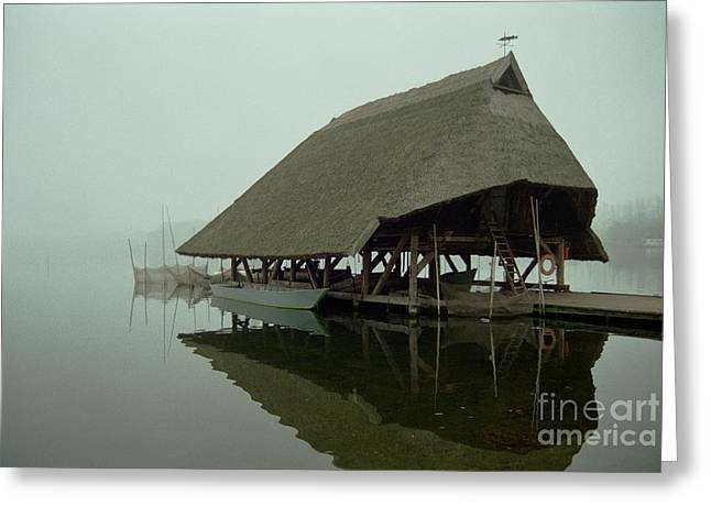Fish House Greeting Card by Michael Swanson