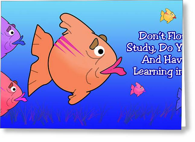 Flounder Greeting Cards - Fish In School Greeting Card by Anthony Caruso