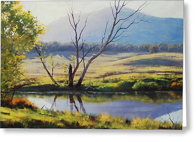 River Paintings Greeting Cards - fish River Tarana Greeting Card by Graham Gercken