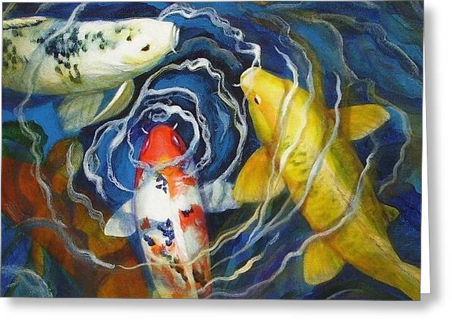 Fish Fins Greeting Cards - Fish Soup Greeting Card by Pat Burns